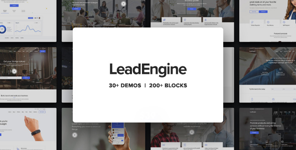 LeadEngine - Multi-Purpose WordPress Theme with Page Builder - Business Corporate