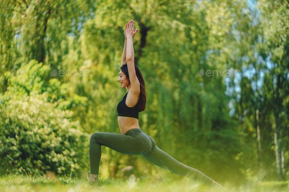 girl practicing yoga - Stock Photo - Images