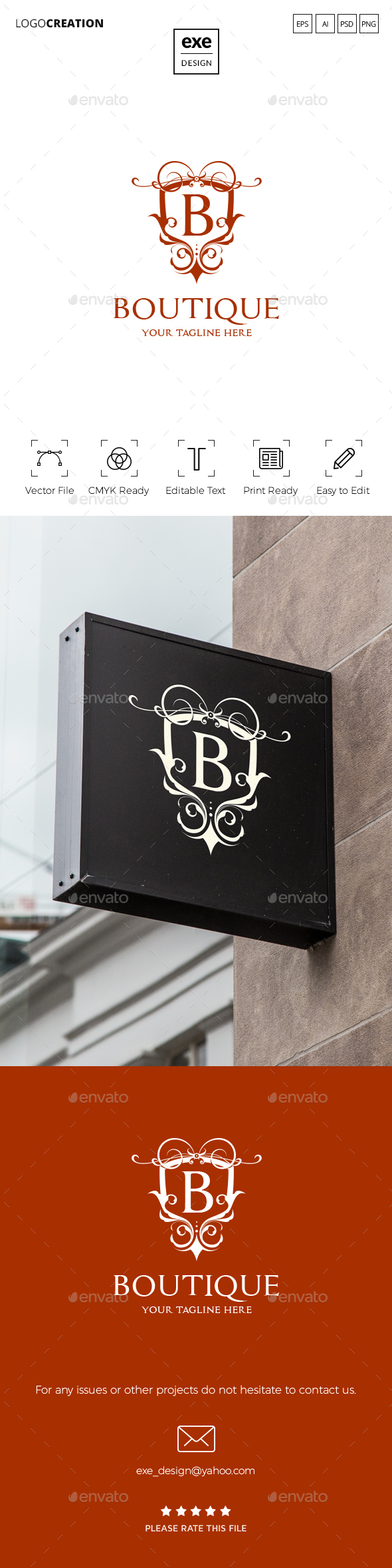 Letter B Logo - Vector Abstract