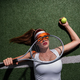 Attractive girl with a racket on the court - PhotoDune Item for Sale