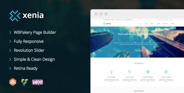 Xenia - Refined WordPress Corporate Theme - Corporate WordPress