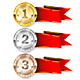 Gold, Silver and Bronze Medal - GraphicRiver Item for Sale