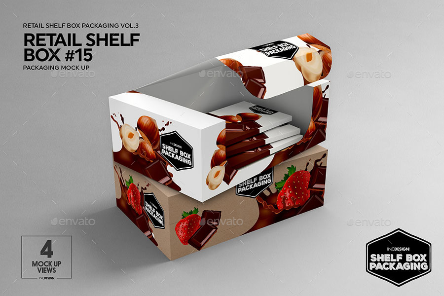 Retail Shelf Box Packaging Mockup No 15 By Incybautista Graphicriver