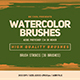 Free Download 30 Watercolor Brush Strokes Nulled