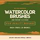 30 Watercolor Brush Strokes