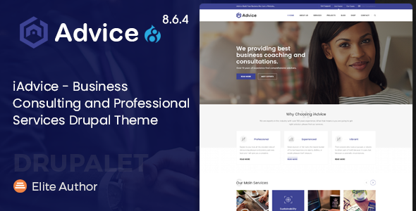 iAdvice - Business Consulting and Professional Services Drupal 8.6.4 Theme - Business Corporate