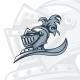 Monochrome Knight Emblem - GraphicRiver Item for Sale