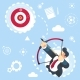 Flat Vector Businessman Aiming Target Concept - GraphicRiver Item for Sale