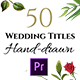 Floral Wedding Titles - Essential Graphics | Mogrt - VideoHive Item for Sale