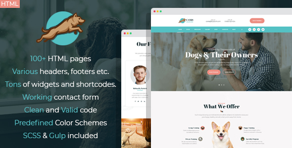 Venator - dog behavior and obedience training HTML Template