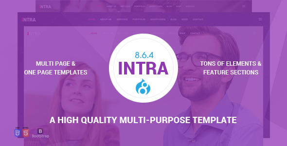 Intra - Multi-Page + One Page Multi-Purpose Drupal 8.6.4 Theme - Business Corporate