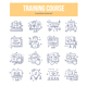 Training Course Doodle Icons - GraphicRiver Item for Sale
