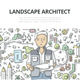 Landscape Architect Doodle Concept - GraphicRiver Item for Sale