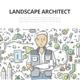 Landscape Architect Doodle Concept - GraphicRiver Item for Sale