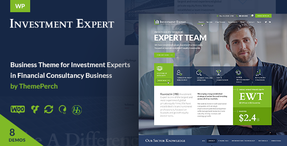 Investment Expert - Business Theme for Investment Experts in Financial Consultancy + RTL - Business Corporate