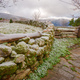 Free Download stone wall and wooden fence under the frost Nulled