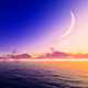 Moon Over Sea - VideoHive Item for Sale