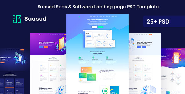 Saased - Agency, Saas, Shop and Software PSD Landing page - Creative PSD Templates
