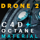 Free Download Drone 2 C4D - Octane Render Mix Material Nulled