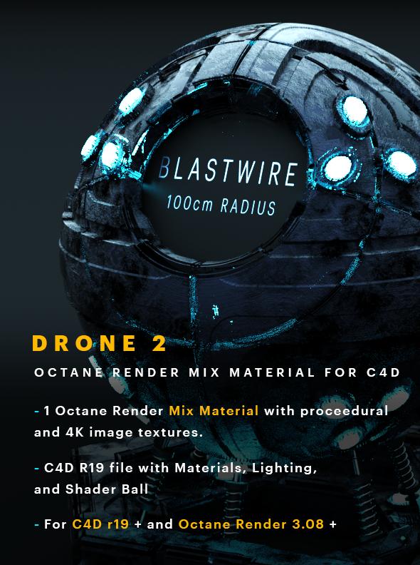 Drone 2 C4D - Octane Render Mix Material - 3DOcean Item for Sale