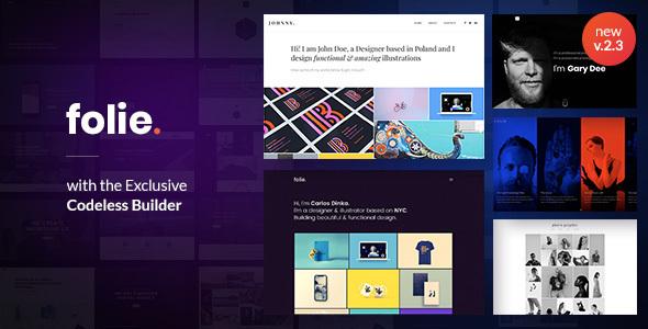Folie | The WordPress Website Builder - Creative WordPress