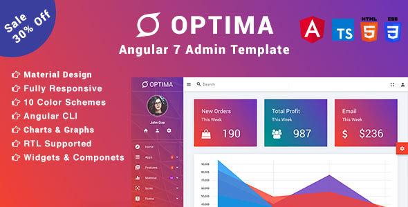 Optima - Angular 7 Material Design Admin Template