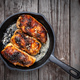 Chicken pieces in pan above - PhotoDune Item for Sale