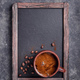 Coffee cup on menu blackboard - PhotoDune Item for Sale