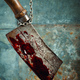 Old bloody meat cleaver - PhotoDune Item for Sale
