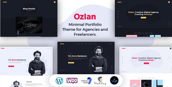 Ozlan - A Creative Minimal Portfolio WordPress Theme for Agencies and Freelancers - Portfolio Creative