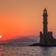 Free Download sunset in port of Chania, Crete Nulled