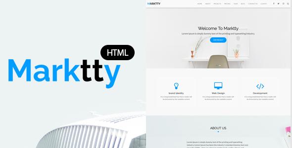Marktty Creative Agency HTML Template - Creative Site Templates