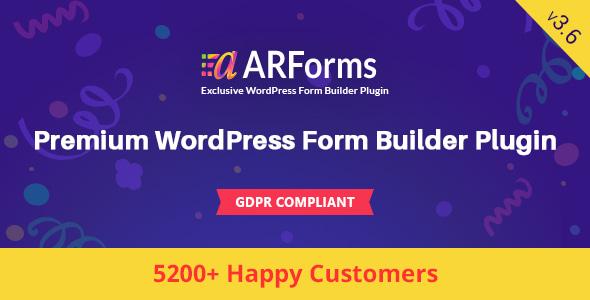 ARForms: Wordpress Form Builder Plugin - CodeCanyon Item for Sale