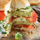 Free Download Fried vegetarian broccoli  burgers Nulled