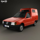 Fiat Fiorino Panel Van 1988 - 3DOcean Item for Sale