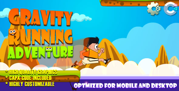 Gravity Running - Adventure (C2,C3,HTML5) Game. - CodeCanyon Item for Sale