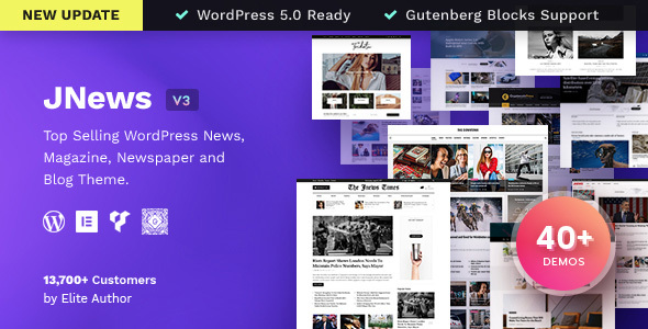 JNews - WordPress Newspaper Magazine Blog AMP Theme - News / Editorial Blog / Magazine