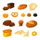 Vector Bread Set - GraphicRiver Item for Sale