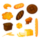 Vector Set of Bread and Pastry - GraphicRiver Item for Sale