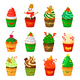 Vector Christmas Cupcakes - GraphicRiver Item for Sale