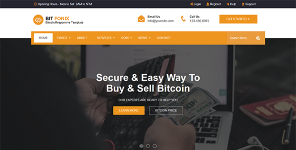 Bitfonix - ICO, Bitcoin And Cryptocurrency Responsive HTML5 Template