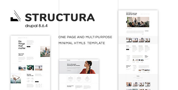 Structura - One Page Multipurpose Minimal Drupal 8.6.4| One Page & Minimal - Corporate Drupal