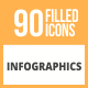 90 Infographics Filled Round Icons - GraphicRiver Item for Sale