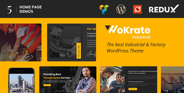 Wokrate – Industry, Factory & Engineering WordPress Theme