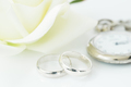 Wedding rings on white background-4 - PhotoDune Item for Sale