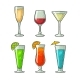 Alcohol Glass Set - GraphicRiver Item for Sale