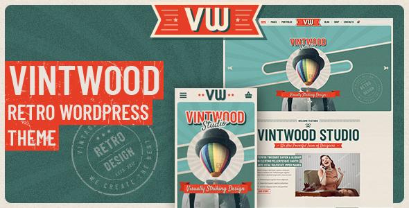 VintWood - a Vintage, Retro WordPress Theme - Portfolio Creative