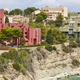Spanish mediterranean coastline in Alicante, Calpe. Buildings landmarks. Tourism - PhotoDune Item for Sale