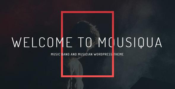 Mousiqua | Music Band & Musician OnePage WordPress Theme - Music and Bands Entertainment