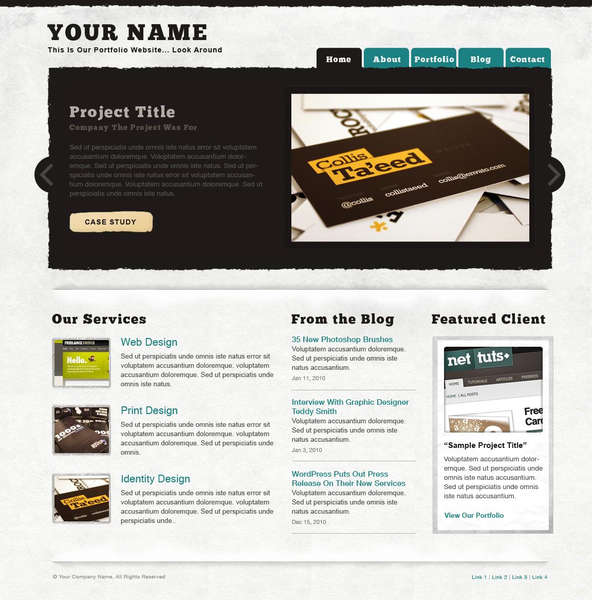 Free Download Textured Portfolio Site Nulled Latest Version